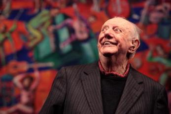 "Italian Nobel Prize-winning playwright Dario Fo turned 90 on Thursday, an age he has described as ""crazy"" considering all the ideas he still wants to pursue. He is due to celebrate the milestone at Milan's Piccolo Teatro along with friends, collaborators and journalists. The party, organised by his son Jacopo, is set to be attended by Slow Food inventor Carlo Petrini who will tell anecdotes and stories about his close friend. ""It seems like a crazy age, nuts,"" Fo told ANSA earier this month. ""I still have ideas that I want to pursue and this outrages me,"" he said, Milan, 24 March 2016. ANS/ MOURAD BALTI TUOATI"