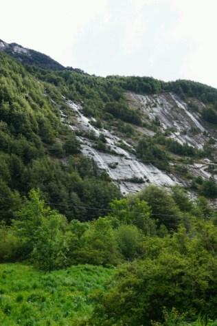 Un mur de cascades