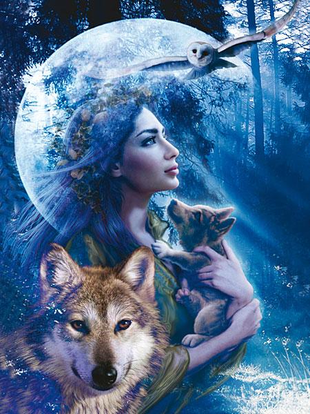 femme-et-loup