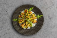Moules d'Espagne à l'ail et son riz safrané, l'Espagne dans votre assiette.