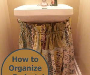 House Organizing & Upcycling Curtains