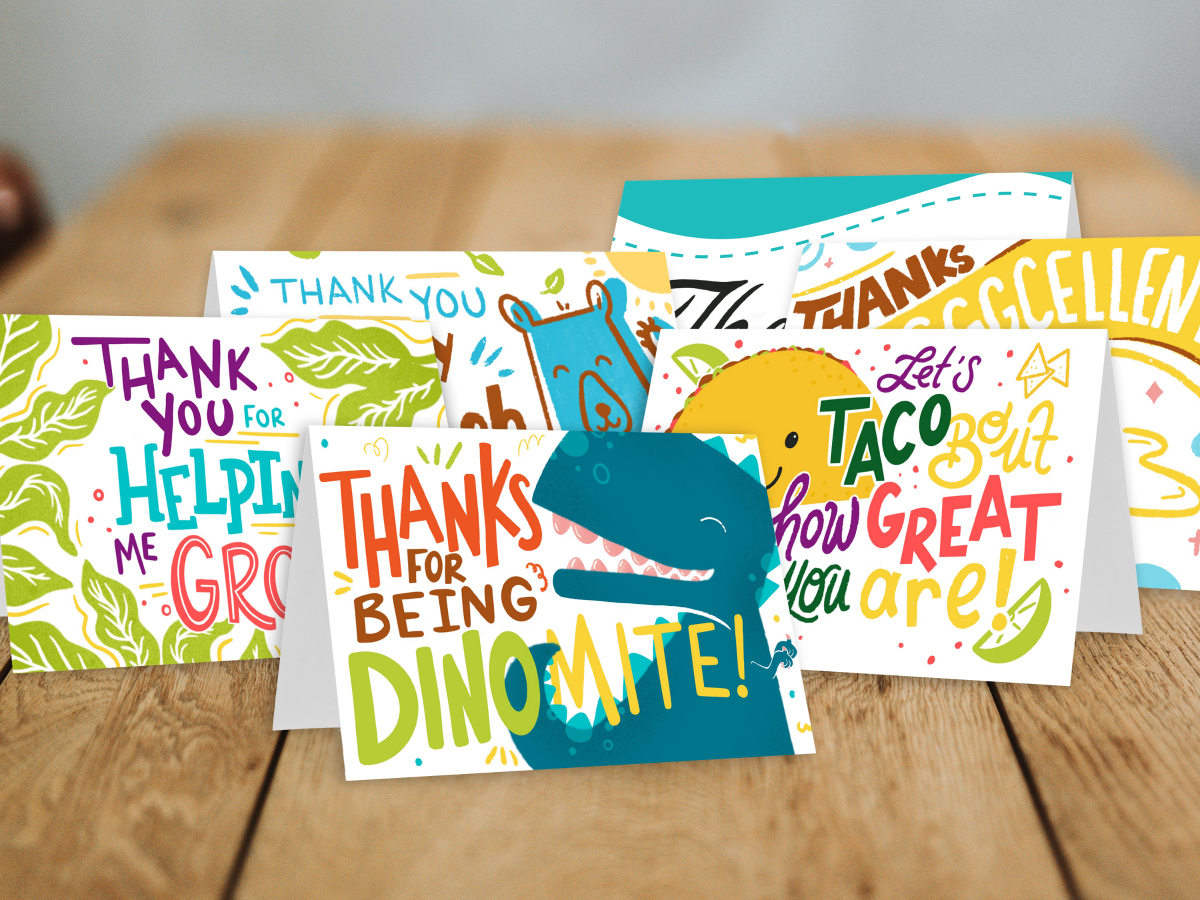 Printable Thank You Cards Available For Free From Let Grow