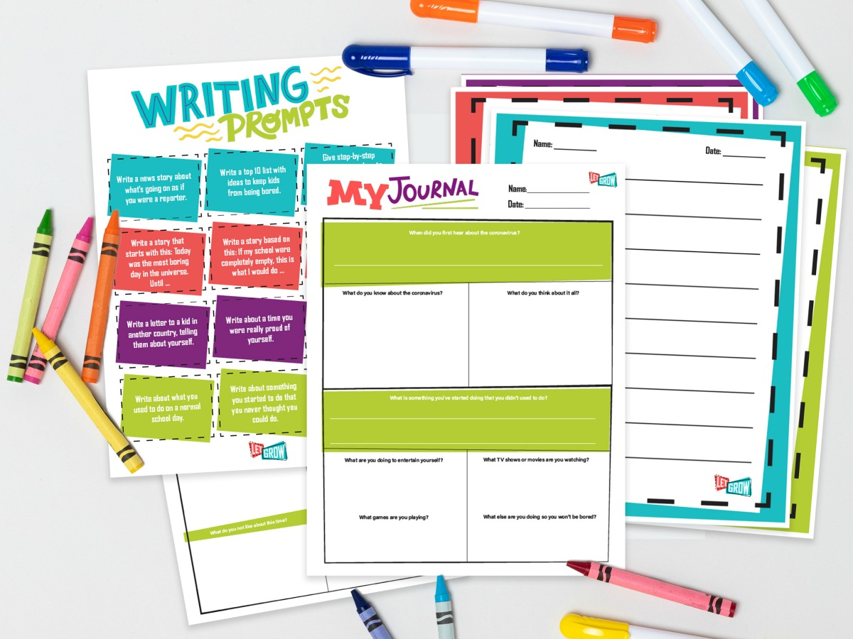 Free Printable Journal Pages To Help Kids Capture This