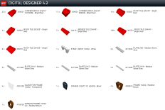 Lego Designer Roof Red Tiles from Jaystepher parts list 2-2