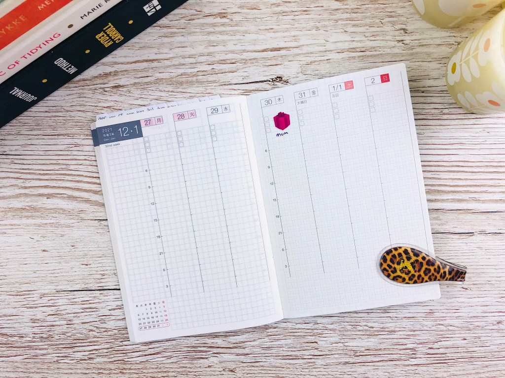 hobonichi weekly supplement open