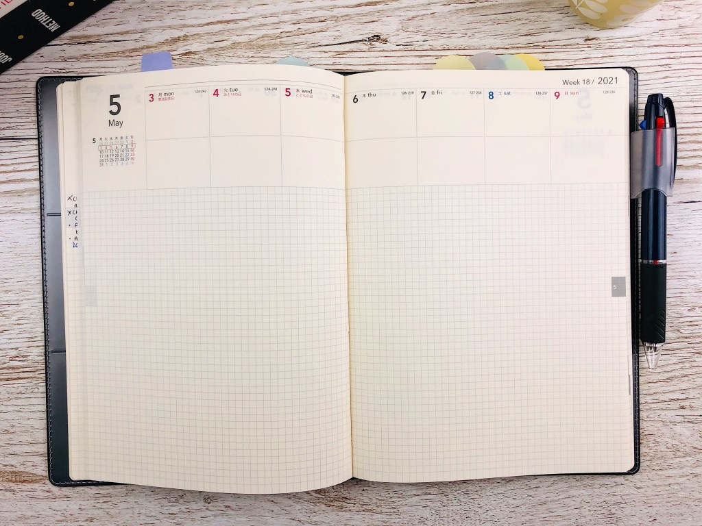 nolty a5 weekly pages