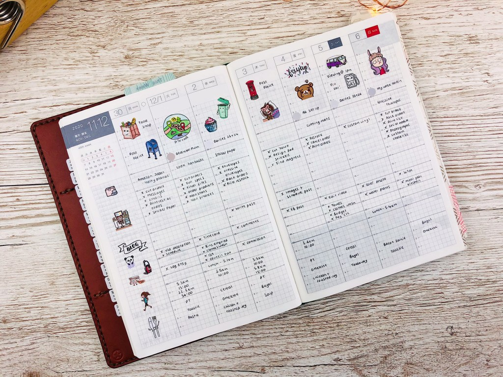 Top Six Hobonichi Cousin Weekly Layouts