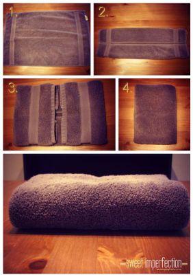 主動做家事毛巾摺法