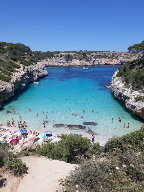 Cala d´es Moro - podle mě nejhezčí pláž na Mallorce a jedna nej pláží na světě!