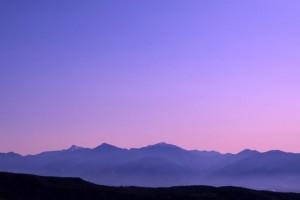 南アルプスの夕焼け