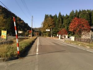 湯沢市秋の宮畑付近 宮城県との県境付近 国道108合繊沿い