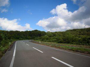 栗駒山へ向かう国道342東成瀬村