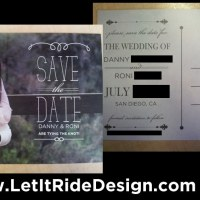 Custom Wedding Save the Date Postcards