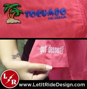 Tocumbo Ice Cream Embroidery