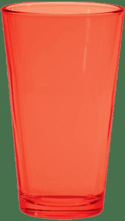 Fluorescent Orange Pint Glass