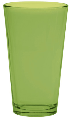 Lime Green Pint Glass