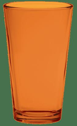 Orange Pint Glass - 215