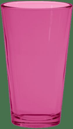 Pink Pint Glass
