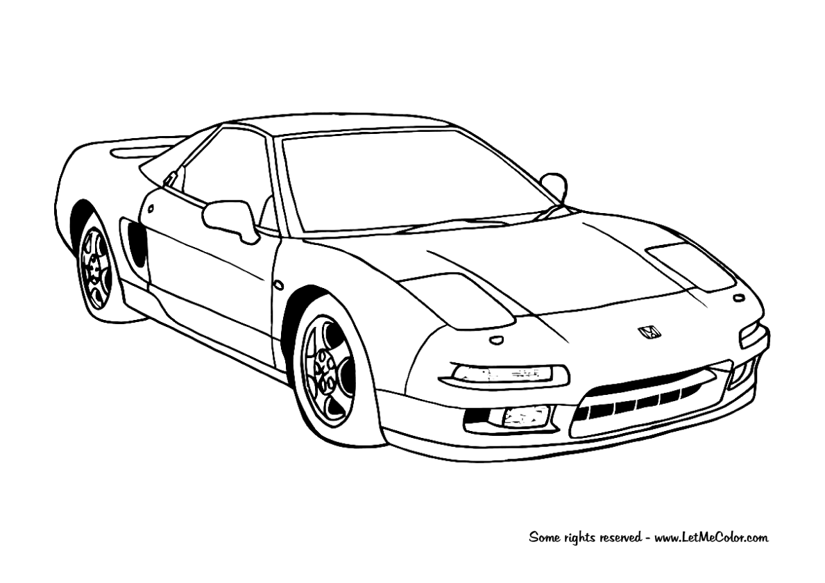 Coloring Honda Letmecolor