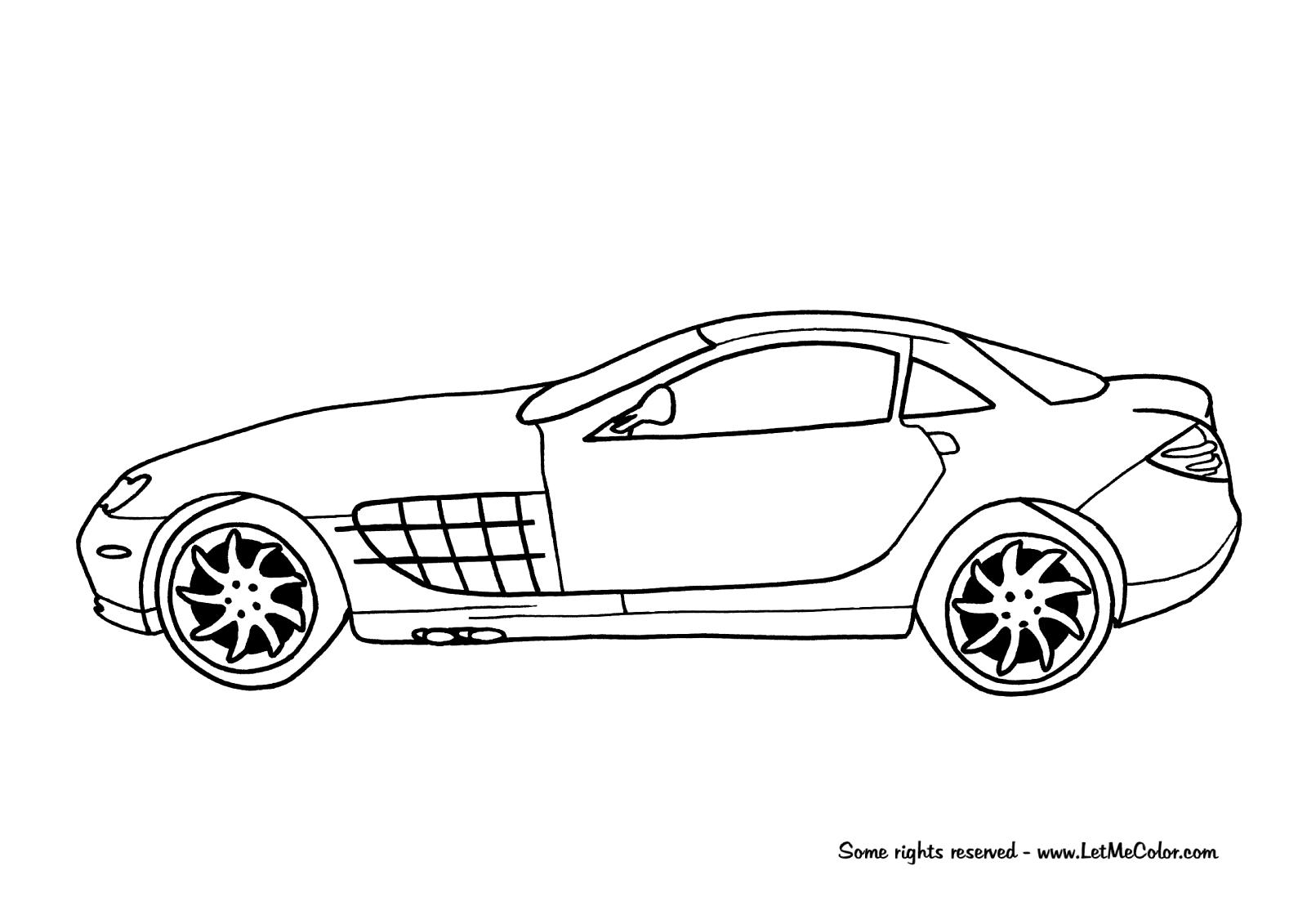 Mercedes Benz Slr Mclaren Coloring Page Letmecolor