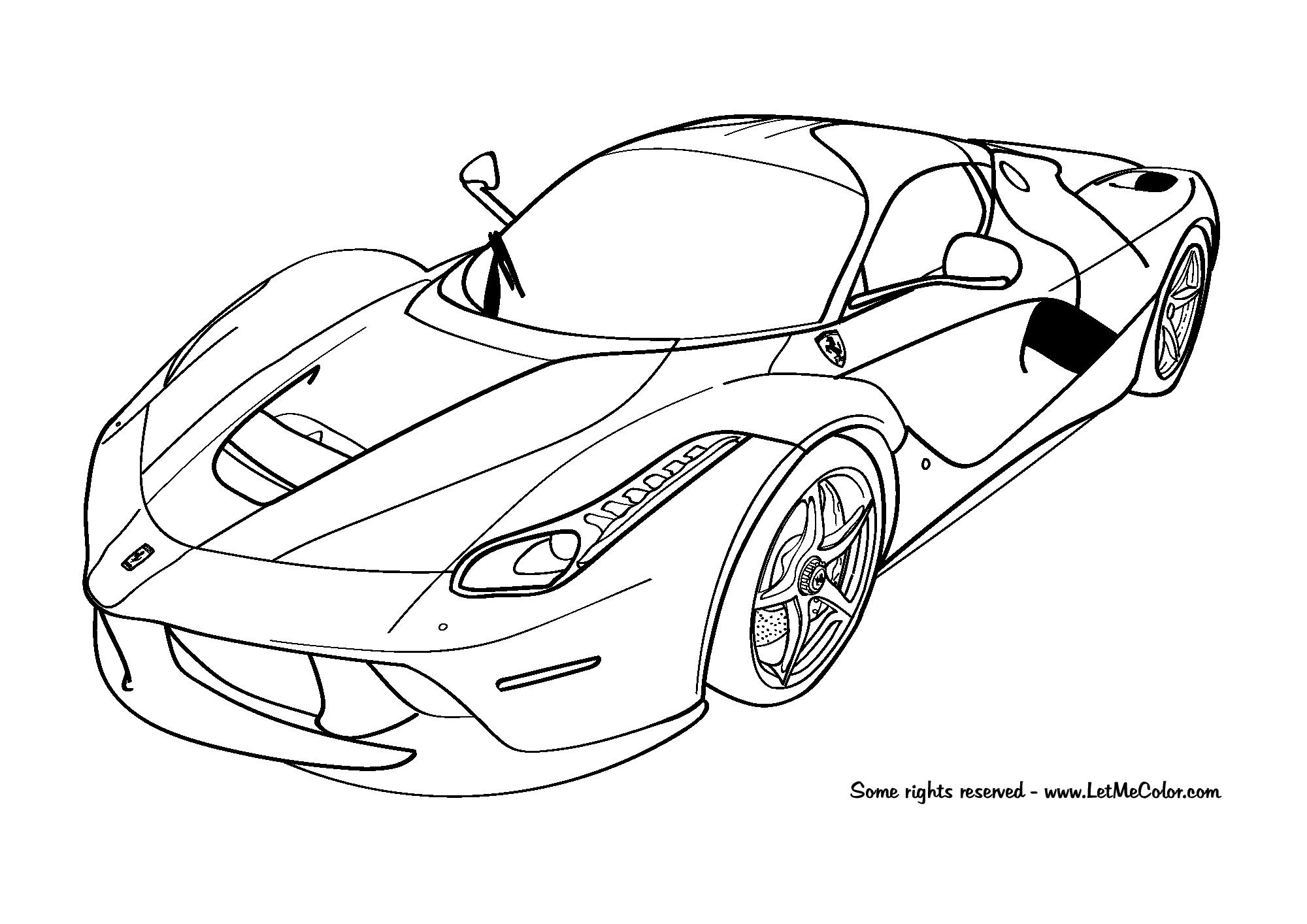 Ferrari Laferrari Coloring Page Letmecolor