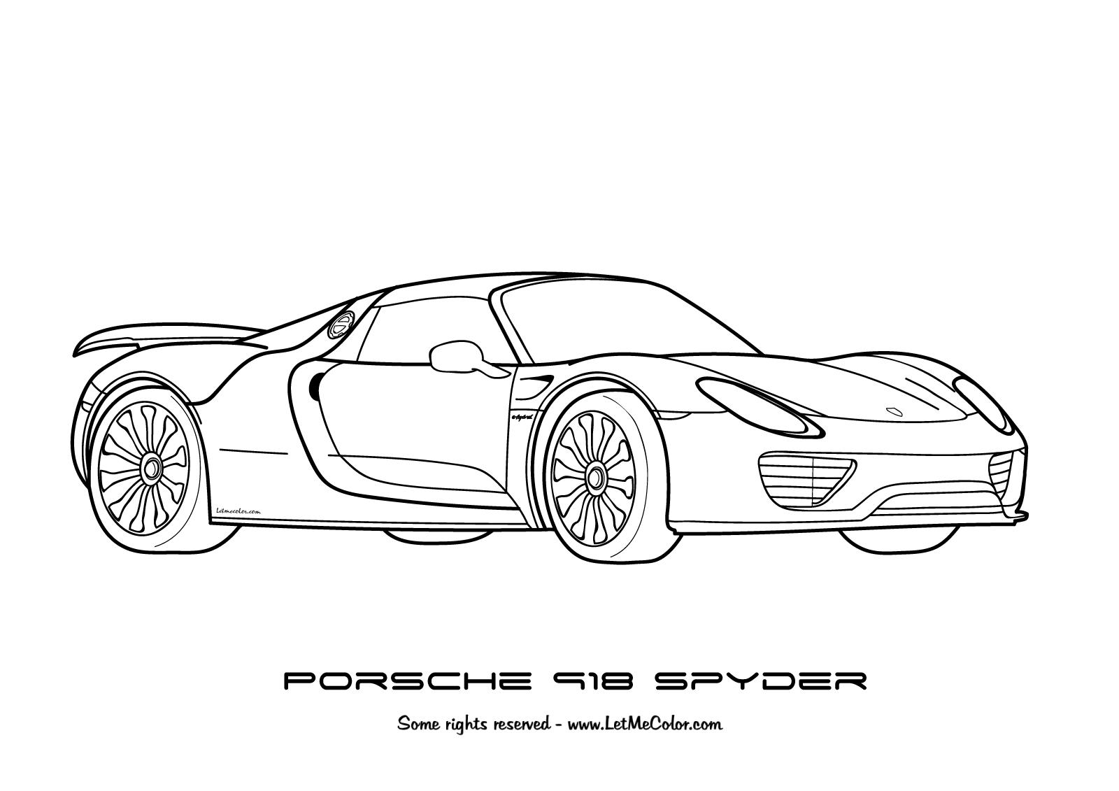 Porsche Gt3 Coloring Pages