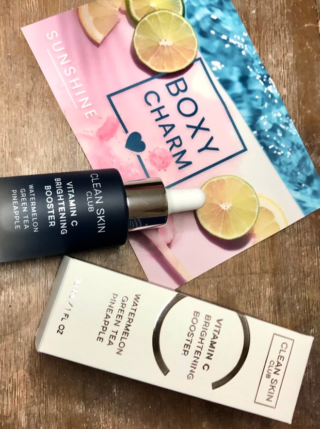 Clean Skin Club , Vitamin C Brightening Booster Serum, Boxy July 2020, Boxycharm, skincare, serum, clean skin, booster, boxy