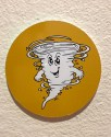 baby tornado, shelter sign, yellow sign, yellow tornado, shelter tornando sign,