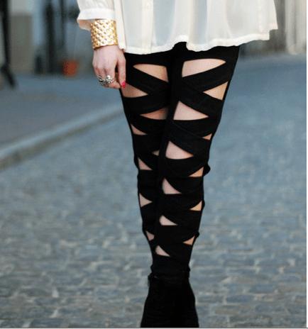 DIY Ripped Leggings Letmeseethat