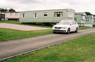 Skoda Superb in St Andrew camping