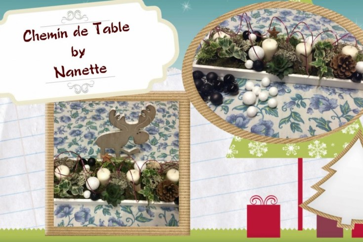 Le top des testeuses Tuto Chemin de Table pour Noël Activités Manuelles Tutoriels