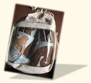Le top des testeuses Les chaussons en cuir de la marque «Lait et Miel» Enfants