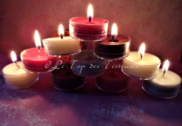 Nous avons testé les bougies Partylite avec Louise !!