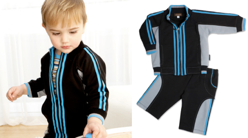the rabbit moon signature tracksuit from the Rocket Collection. LOVE the bold stripes!