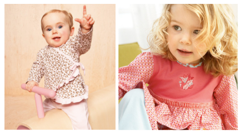 Soft, fun Pink Leopard from le•top and exquisite detailing in Bougainvillea from rabbit moom