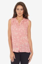 Collective Concepts Abstract Sleeveless Top