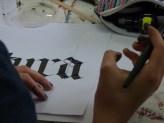 Práctica caligráfica.
