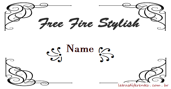 Free Fire Stylish Name – Letras diferentes