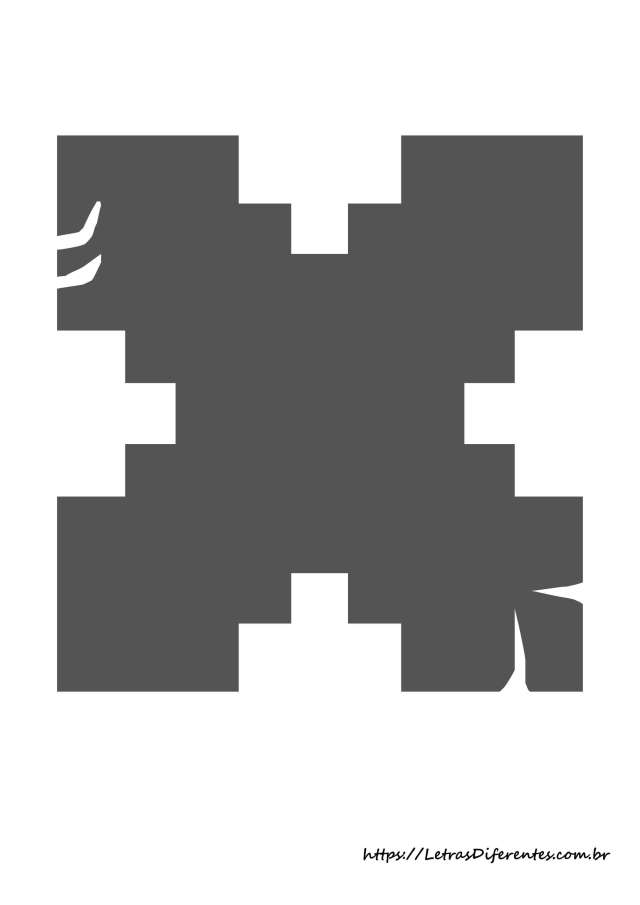 alfabeto letras x minecraft para imprimir (25)