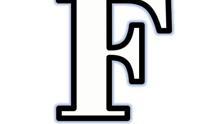 Moldes de Letras f Para Recortar Maiúscula