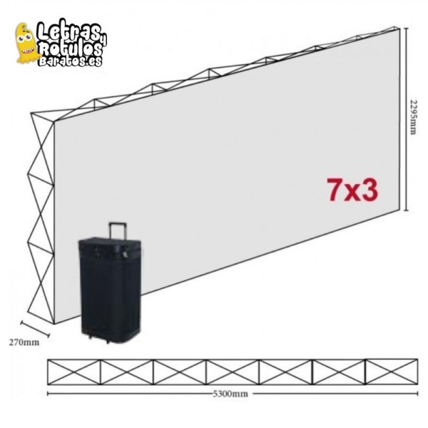 Pop Up 7x3 (530x230cm)