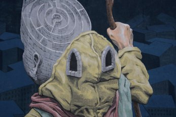 Details of Labyrinth -mural in Kiev, -Ukraine