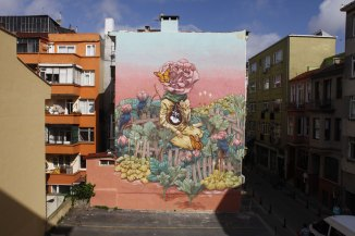 Miracle mural in Istanbul, -Turkey - 2015