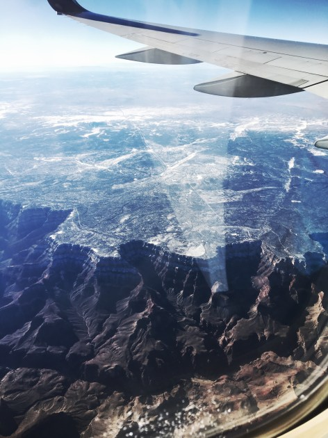 View of the Grand Canyon from the plane