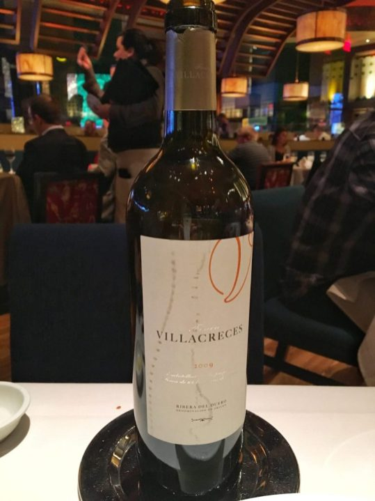 Wine at Mesa Grill in Las Vegas