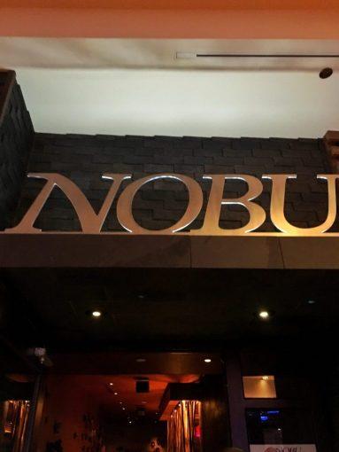 Nobu sign at Hard Rock Resort in Las Vegas