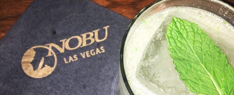Sake cocktail at Nobu in Las Vegas