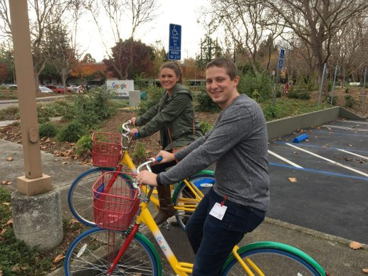 Riding bikes at Google