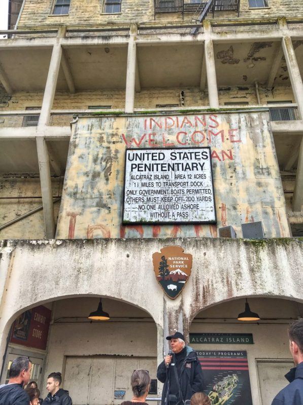 The entrance to Alcatraz in San Francisco