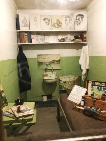 Inside a cell at Alcatraz prison